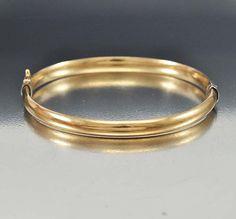 Art Deco Bracelet Sterling Silver Gold Bangle Bracelet by boylerpf
