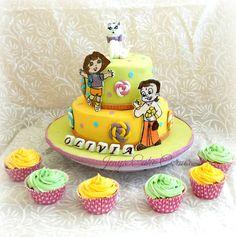 Chota Bheem theme cake for a birthday....