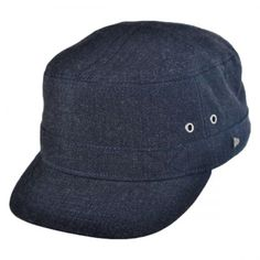 29dd231ad2a EK Collection by New Era Brimley Wool Blend Military Cap Cadet Caps