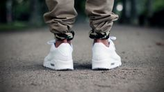 Camo roll up and all white Nike Air Max 90's #sneakers