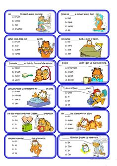 Present simple and Routine Speaking Cards worksheet - Free ESL printable worksheets made by teachers English Verbs, Kids English, English Reading, English Lessons, English Vocabulary, Learn English, English Worksheets For Kids, English Activities, Grammar Practice