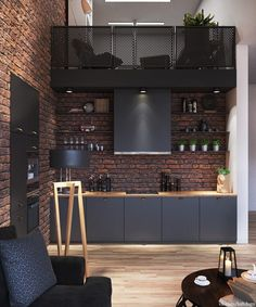 Best Inspiration Industrial Interior Design Ideas for Your Home Decor Industrial Loft Apartment Architecture And Designs For Inspiration Design Loft, Deco Design, Küchen Design, Design Trends, Asian Design, Design Moderne, Design Table, Design Studio, Industrial Interior Design