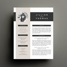 Creative Resume Template and Cover Letter Template for Word | DIY Printable Resume 4 Pack | Modern 2 Page Design