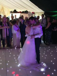 White Twinkling Dance Floors make Weddings that extra bit more romantic fairytale style. www.KillaParty.co.uk
