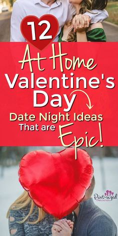 These EPIC at-home Valentine's Day Date Night Ideas are crazy-fun, doable and creative! Try these date night ideas this Valentine's Day!