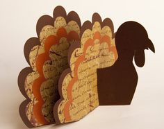 Turkey paper craft (free template)