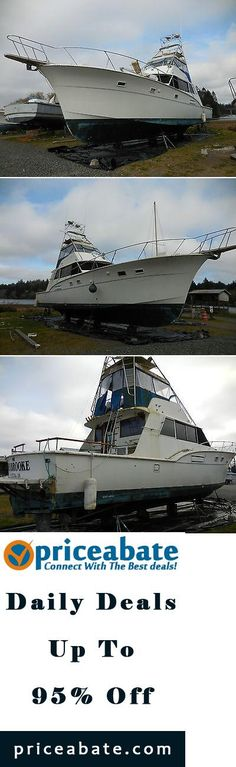 #priceabatedeals 1970 Hatteras 53' Sportfisher Motor Yacht 50% Salt Water Damage 2 8V71 Detroit - Buy This Item Now For Only: $35500.0