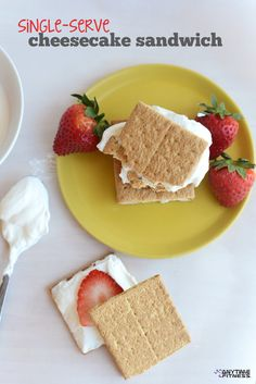 Single-Serve Strawberry Cheesecake Sandwich - Only 190 calories per serving + 8 grams of protein!
