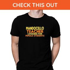 Teeburon Mandocello teacher looking for female students T-Shirt - Careers professions shirts (*Amazon Partner-Link)