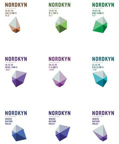 A 2010 scheme for Nordkyn from Oslo's Neue Design Studio produced a new logo for every application with data based on the feed from the Norwegian Meteorological Office.