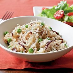 Shiitake and Sweet Pea Risotto - Quick and Easy Vegetarian Recipes for Dinner Tonight - Cooking Light