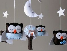 Sleepy little felt owls :)