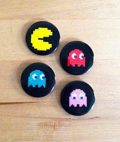 Pac Man Magnet Set by HoneysDead on Etsy, $8.00