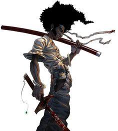 Wer keinen Mut hat zum Träumen, hat auch keine Kraft zum Kämpfen. - afrikanische Weisheit Afro Samurai, Dragon Samurai, Samurai Tattoo, Samurai Art, Samurai Anime, Samurai Warrior, Comic Books Art, Comic Art, Lagann Gurren