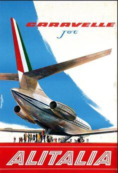 Caravelle Jets - Alitalia poster plane