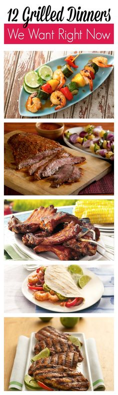 12 favorite grill recipes for summer!