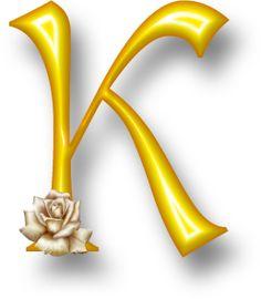 Alfabeto Decorativo: Alfabeto - Florido - PNG