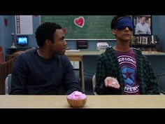 "Abed is a whiz at guessing the sayings on candy hearts. ""There has got to be a way to make money off of this!"""