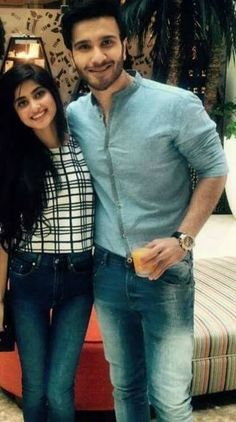 Tariq Luqman View: Sajal Ali And Feroze Khan Sajjal Ali, Maya Ali, Celebrity Couples, Celebrity Pictures, Feroz Khan, Preety Girls, Muslim Beauty, Cutest Couple Ever, Pakistani Bridal Dresses
