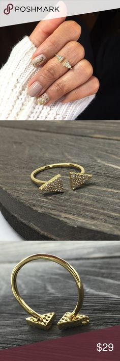 18k Gold Over Sterling Silver Ring •Beautifully A+ quality cubic zirconia set in solid 925 Sterling Silver. This jewelry is crafted of platinum overlay sterling silver in a polished finish prevent the silver from tarnishing and give the look of platinum•                                                            •Solid .925 Sterling silver                             •Excellent Quality Handmade in Taxco Mexico• •BRAND NEW WITH TAG•SAME DAY OR NEXT DAY SHIPPING•BUNDLE TO SAVE• NO LAWBALLING (…