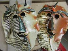 Gary Jackson-soda-fired masks