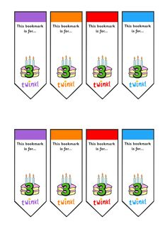 Twinkl Resources >> Editable Birthday Bookmarks Age 3  >> Classroom printables for Pre-School, Kindergarten, Elementary School and beyond! Bookmarks, Birthdays, Reading, Literacy