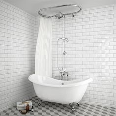 SHOP the Chatsworth 1928 Traditional Free Standing Over-Bath Shower System at Victorian Plumbing UK Shower Over Bath, Bath Shower Mixer Taps, Shower Valve, Taps Bath, Traditional Baths, Traditional Bathroom, Modern Bathroom, Small Bathroom, French Bathroom