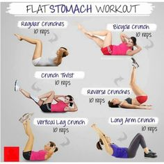 flat belly exercises.