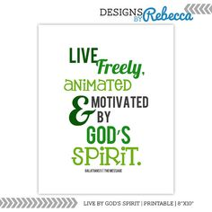 """Live by God's Spirit Scripture Quotation by NewDesignsByRebecca 