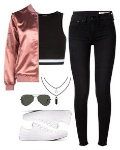 287♡ by directioncurse on Polyvore featuring mode, New Look, rag & bone, Converse and Ray-Ban