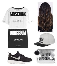 """""""Untitled #14"""" by ariatsapaki on Polyvore featuring Moschino, NIKE, adidas and Topshop"""