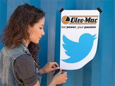 Siga a nova página da Oleo-Mac Portugal no Twitter! Porque queremos estar perto de todos os nossos clientes e fãs.  #oleomac #oleomacportugal #twitter #redessociais #socialmedia #presença #comunicação #digital #clientes #fãs