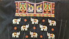 Work Blouse, Blouse Patterns, Hand Embroidery, Elephant, Blouses, Birds, Rock, Animals, Design