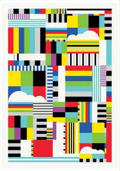 Test pattern / Neil Stevens, via Behance