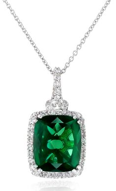 Sterling Silver Gem Stone Pendant Necklace, 18' *** Discover this special product, click the image : Jewelry Necklaces