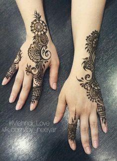 Wedding Henna Designs, Mehndi Designs For Girls, Henna Designs Easy, Henna Tattoo Designs, Mehandi Designs, Mehndi Art, Henna Mehndi, Henna Art, Hand Henna