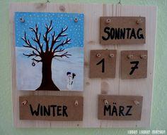LEBEN LIEBEN MACHEN - Immerwährender Holzkalender