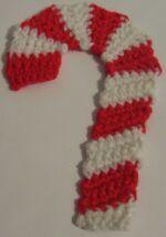 crochet Christmas candy cane