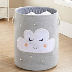 Kids Laundry Hamper Cloud is part of Cool Home Accessories Kids - Kids Laundry Hamper Flamingo Brighten up children's bedrooms with this cool Laundry Hamper Buy more laundry hampers and accessories at B&M stores Kids Hamper, Baby Hamper, Laundry Hamper, Kids Room Accessories, Clouds Nursery, Cloud Nursery Decor, Nursery Ideas, Kids Room Design, Baby Room Decor