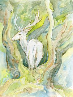 Springtime Deer by shadowgirl on DeviantArt Spring Time, Deer, Deviantart, Watercolor, Nature, Painting, Pen And Wash, Watercolor Painting, Naturaleza