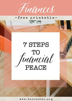 7 Steps to Financial Peace