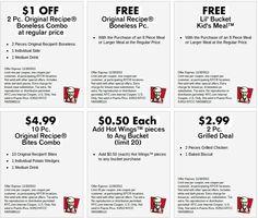 ... KFC Printable Coupons on Pinterest | KFC, Coupon and Printable coupons