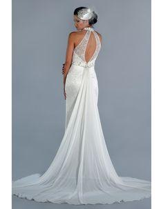 fine detachable train wedding dress - Google Search