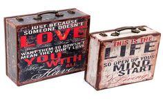 Set de 2 Maletas Love Life 15 x 42 x 30 centímetros