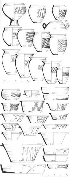 Iron Age Britain - pottery designs