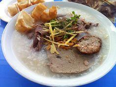 Rice porridge with pork organ meats (Cháo lòng)