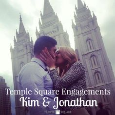 Temple Square Engagements tells the stories of the wonderful couples that get engaged right on Temple Square! Kim & Jonathan's story began miles away in NY Marriage Rights, Temple Square, Kinds Of Story, Engagement Stories, Getting Engaged, Wedding Blog, Journey, Yard, Weddings