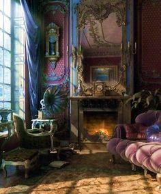 40 Trending Victorian Bohemian Decor Inspirations - Home Design Victorian Sofa, Victorian Bedroom, Victorian Decor, Victorian Homes, Victorian Gothic, Victorian Parlor, Bohemian Style Rooms, Bohemian Design, Bohemian Interior