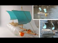 How to Make a Boat from Bottle - YouTube