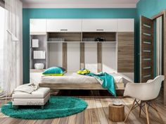 """Double Horizontal Wall Bed AL - with Cupboard (optional) [powr-image-slider label=""""Double Hor Albena""""] Double Wall bed with Cupboard is a perfect solution for s"""